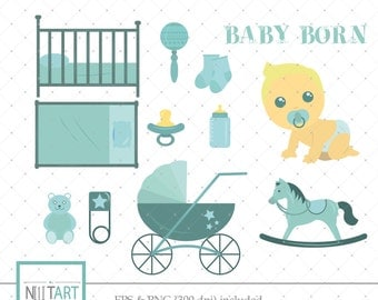 Baby clipart , New born clipart, vector graphics, Birth party clipart, digital clip art, digital images CL 011