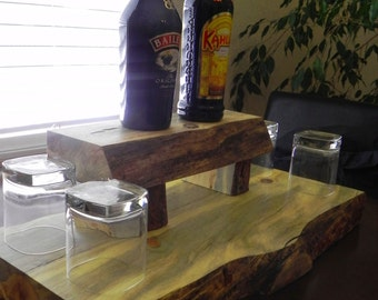 Hand-crafted Wooden Mini Bar