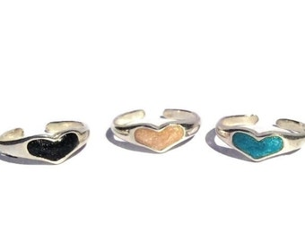 925 Sterling Silver Heart Toe Ring