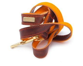 Dog Leash, Dog Lead, Leather dog lead, Leather Dog Lead, Leather Leash, Antique Brown Dog Lead, Pink dog leash, Lurril, UK, dog collar