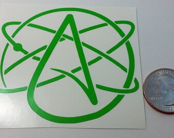Atheist Atomic Vinyl Window/Car Decal