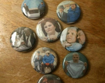 Trains, Planes and Automobiles Pins set of 8
