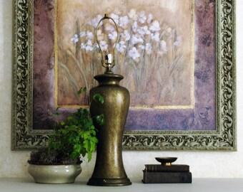 Tall Table Lamp Brown Gold Ginger Jar Lamp