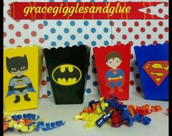 10 Superhero Themed Favor Boxes