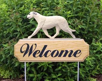 Irish Wolfhound Welcome Garden Stake