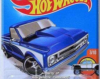 Hot Wheels - '67 Chevy C10: HW Hot Trucks #3/10 - #143/250 *Blue Edition*