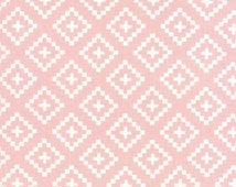 1/2 Yard - Moda Into the Woods, Floral Geometric Check Quilt Blocks Pink, Manufacturer SKU# 5004 13, Fabric, Southwest