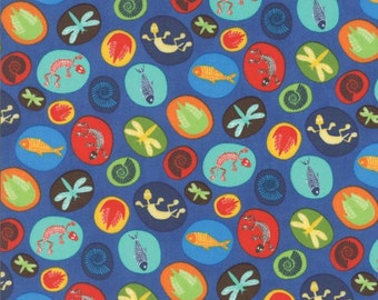 Fossils Blue - JURASSIC JAMBOREE collection by Abi Hall for Moda Fabrics - 35293 13