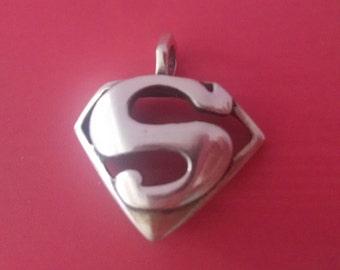 Silver Superman Pendant / Charm