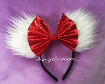 White and red Minnie Ears