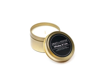 Whiskey & Cola Natural Soy Wax Candle - 6oz Tin