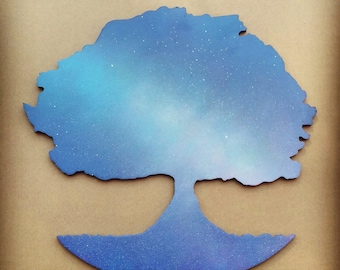 Painted Galaxy Tree Wall Decor