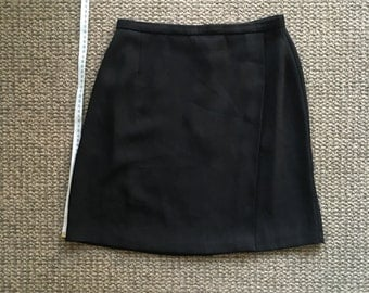 Black nylon wrap miniskirt - 90s