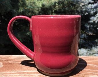 Large Handmade Mug, Wheel Thrown Ceramic Mug, Pottery Mug