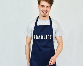 Dadlife Men's Apron - Daddy Gifts - Father Gift - Father's Day Gift - New Dad Gift - Dad Gifts - BBQ Apron - Men's Apron [FDAPRN-001]