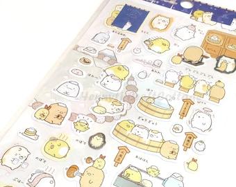 Stickers: Sumikkogurashi San-X Animal  Bear, penguin, cat. For Filofax KIKKI.K Erin Condren Life Planner, Album decorations, scrapbooking