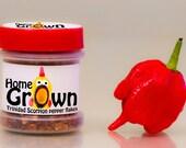 Home GrOwn Trinidad Scorpion flakes (in magnetic jar)