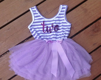 Purple Second Birthday Dress