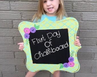 First Day Last Day of School Chalkboard, Customized Back to School Chalkboard, Back to School Board, School Board, Customized Chalkboard