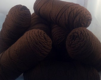 Red Heart Classic Yarn - 10 Skeins - Chocolate Brown