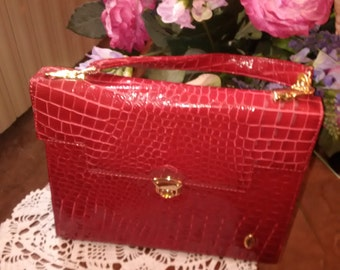 Bag Fontana sisters Couture red crocodile print