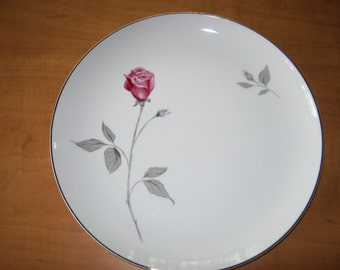 "Vintage (8) Contour Treasure Pink Roses China by Japan ""Dinner Plate"""