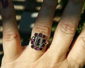 Georgian Flat Cut Garnet ring