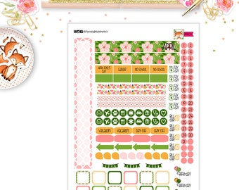 April 2017 Planner Stickers for your  PERSONAL SIZE planner (MP04)