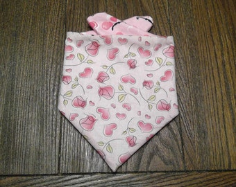 Flowers and Butterflies Love Handmade Bibdana Reversible/Waterproof for Infants and Toddlers