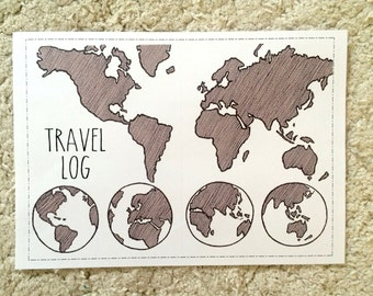 Travel Log Printable for A5 notebooks and Leuchttrum 1917 Bullet Journal