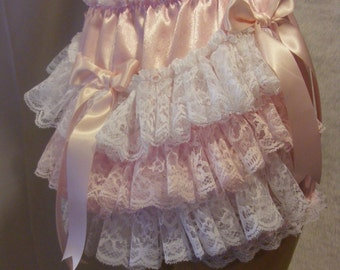 lacy extra frilly sissy adult baby diaper nappie cover unlined pvc lined or waterproof lining knickers panties abdl cosplay