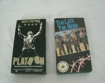 2 War VHS Tapes
