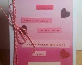 Pretty in pink Valentine card