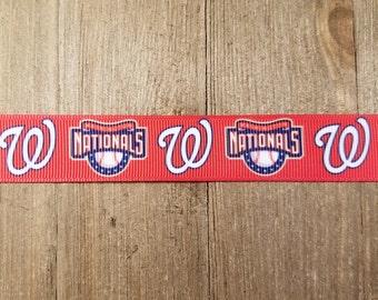 Washington Nationals 7/8 Inch Grosgrain Ribbon
