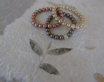 Pearl elastic bracelets