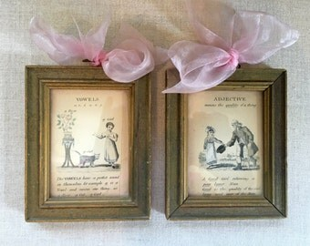Pair of Vintage Childrens Illustrations