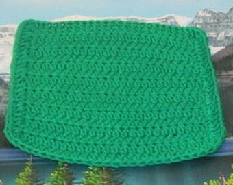 0347 Hand crochet dish cloth 8 by 7.5
