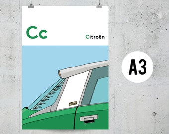 C is for Citroën - A3 Print