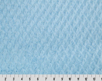Blue Minky from Shannon Fabrics > Tile Soft Cuddle ™ Baby Blue < Diamond Embossed  by the Yard