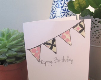 Birthday card with bunting!