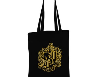 Harry Potter inspired Hufflepuff BlackTote bag