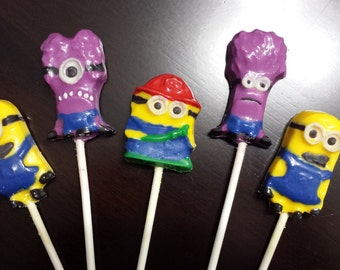 Minions inspired Chocolate Lollipop Party Favors