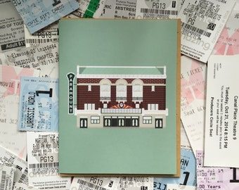 Austin Greeting Card, Paramount Theatre Historic Downtown Congress Movies, Architecture Texas