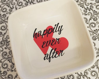 Ring dish, jewelry dish, happily ever after ring dish