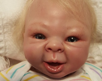 Reborn Baby Doll Kadence by Denise Pratt Newborn 17 in 3-4 lb. Blonde