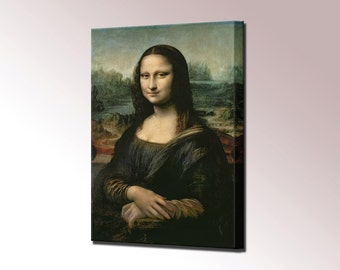 The Mona Lisa Canvas Wall Art Print Picture Leonardo da Vinci Ready To Hang Decor