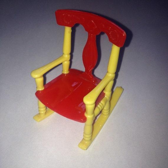 Renwal Rocking Chair Vintage Plastic Dollhouse Furniture
