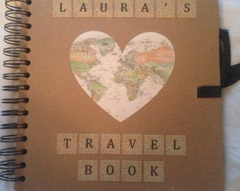 "Personalised Travel Scrapbook 8"" x 8"""
