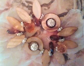 Coconut Shell  Hippie Bohemian Flower Bracelet