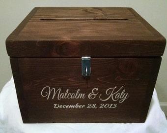 Personalized Rustic Wedding Card BoxWedding Gift Box Graduation